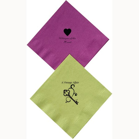 Imprinted Colored Luncheon Napkins