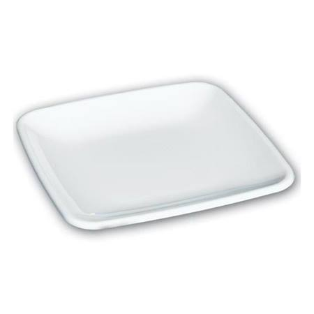 White Square Appetizers Plates