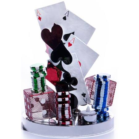 Wire Centerpiece Set – Casino Theme