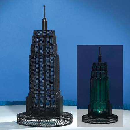 15 inch Empire State Building Wire Centerpiece - Set of 2