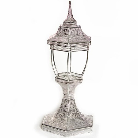Wire Centerpiece Set – Silver Coach Lamp
