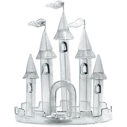 12 inch Silver Castle Wire Centerpiece - Set of 2