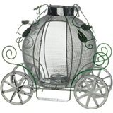 8 inch Carriage Wire Centerpiece - Set of 2