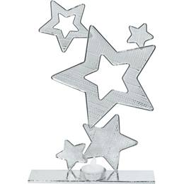 11 inch Silver Stars Wire Centerpiece - Set of 2