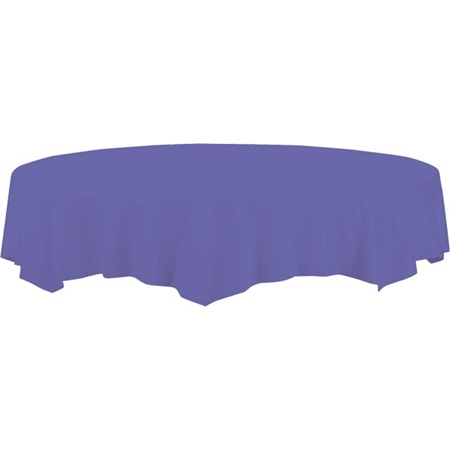 Round Plastic Tablecover - 82 in.