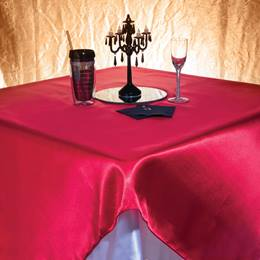 Satin Square Table Cover - 58""