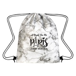 Marbled Drawstring Backpack