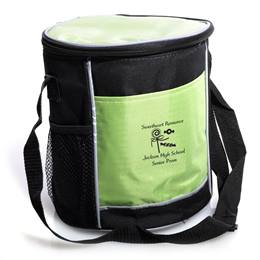 Round Cooler Bag with Mesh Pockets