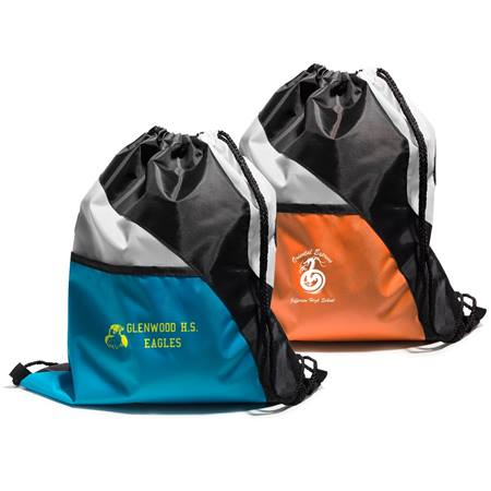 Three-color Drawstring Backpack