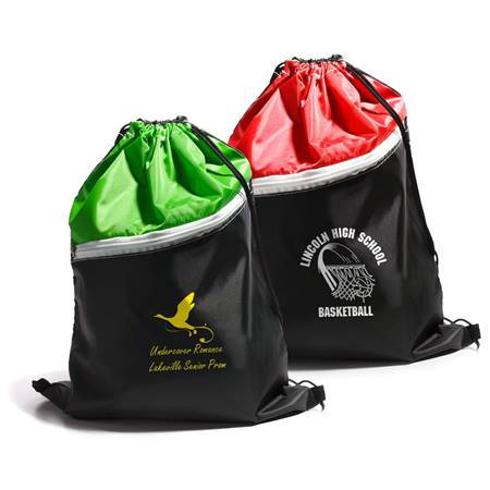 Two-color Drawstring Backpack