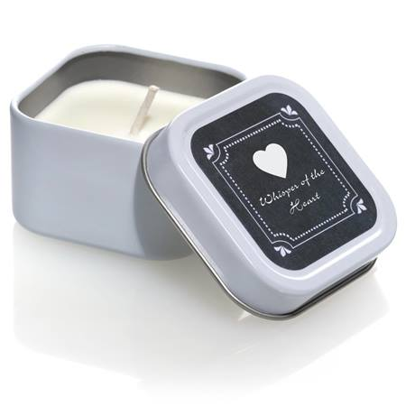Square Candle Tin With Chalkboard Label