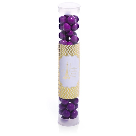 Candy Tube With Metallic Foil Label - Gold Chevrons