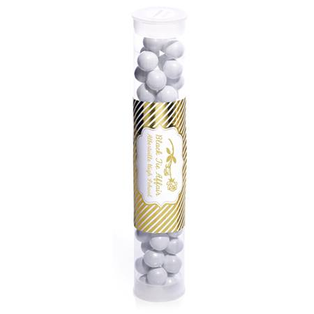 Candy Tube with Metallic Foil Label - Gold Lines