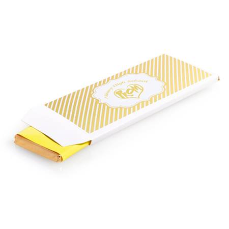 Metallic Foil Candy Wrapper Cover - Gold Lines