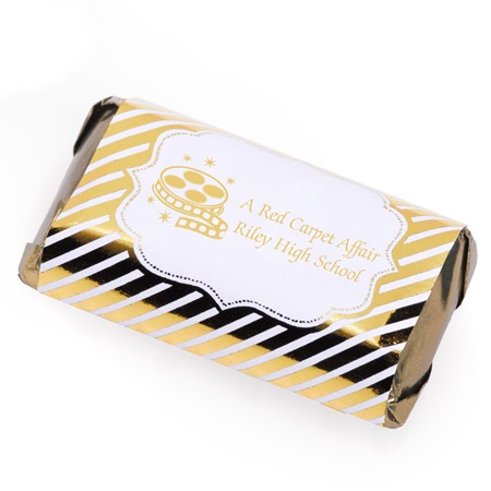 Mini Candy Bar Wrapper - Gold Lines