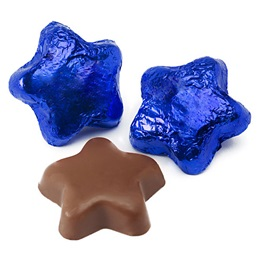 Milk Chocolate Stars - Blue Foil