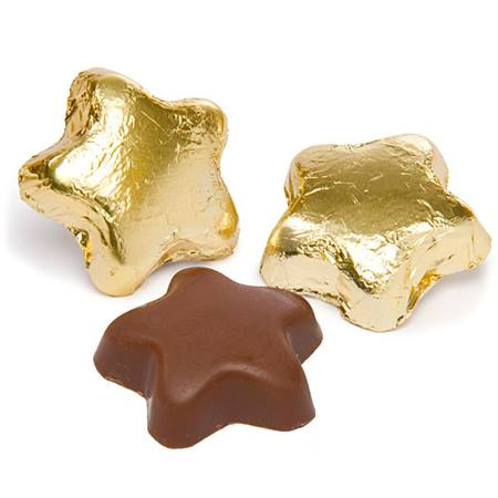 Milk Chocolate Stars - Gold Foil
