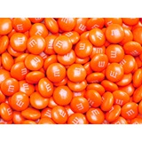Orange M&M's Milk Chocolate Candy - 5 lbs.