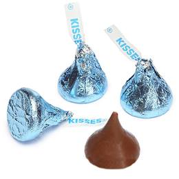 Hershey's Kisses Chocolates - Light Blue