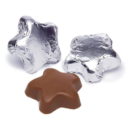 Milk Chocolate Stars - Silver Foil