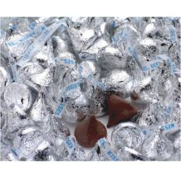 Hershey's Kisses Chocolates - Silver