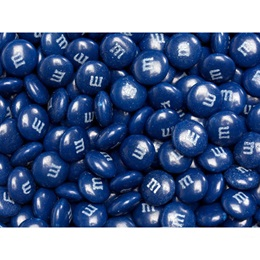 Dark Blue M&M's Milk Chocolate Candy - 2 lbs.