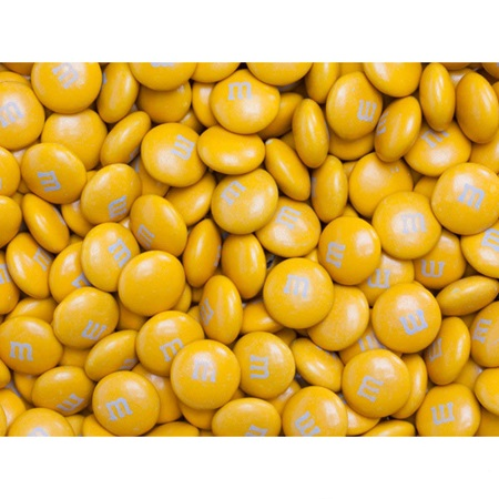 Gold M&M's Milk Chocolate Candy - 2 lbs.