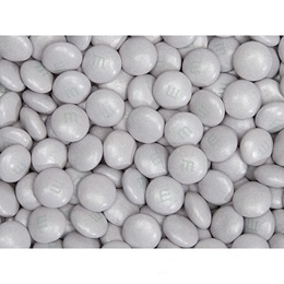 Platinum Shimmer M&M's Milk Chocolate Candy - 2 lbs.
