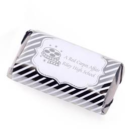 Mini Candy Bar Wrapper - Silver Lines