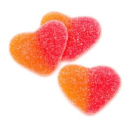 Sour Gummy Peach Hearts