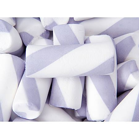 Puffy Poles Jumbo Marshmallow Twists - Purple and White