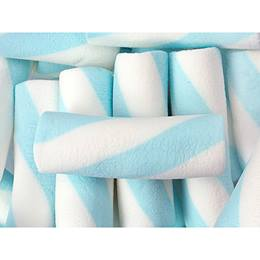Puffy Poles Jumbo Marshmallow Twists - Blue and White