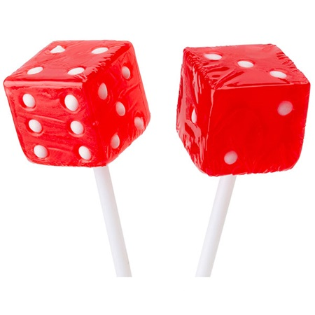 Red Dice Lollipops