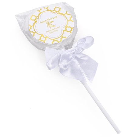 Lollipop with Metallic Foil Label - Arabesco
