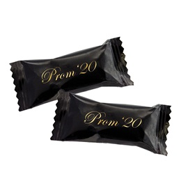 "Buttermint in Black Wrapper with Gold ""Prom '20"""