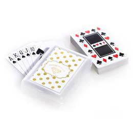 Playing Cards and Case With Metallic Foil Label - Metallic Dots