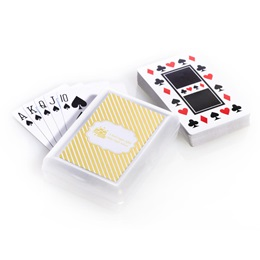 Playing Cards with Custom Metallic Foil Label - Gold Lines