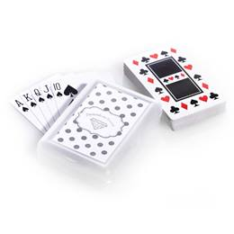 Playing Cards with Metallic Foil Label - Silver Dots