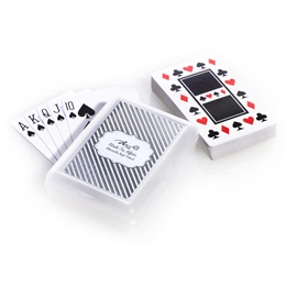 Playing Cards with Metallic Foil Label - Silver Lines