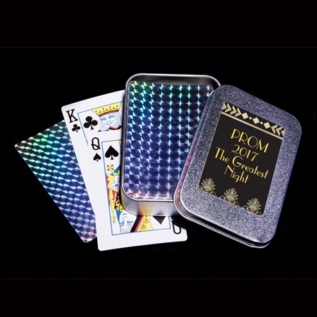 Foil Playing Cards in Tin