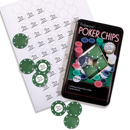 Poker Chips With Labels