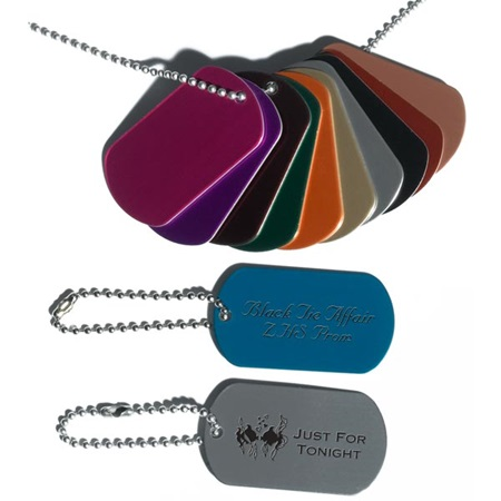 Laser Engraved Dog Tags