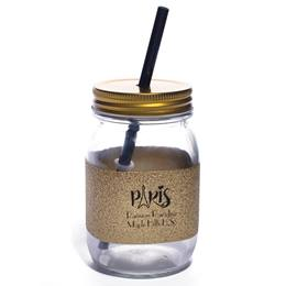 Bradford Tumbler with Gold Glitter Ribbon