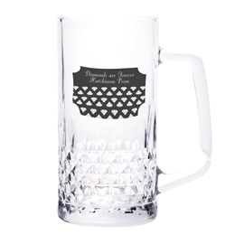 Zander Tall Mug with Rectangular Sticker