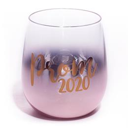 Prom 2020 Rose Gold Blank Bowl Tumbler