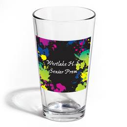 Full-color Leo Tumbler - Neon Splatter Art