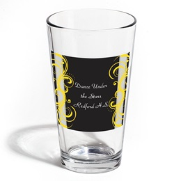 Full-color Leo Tumbler - Yellow Scrolls