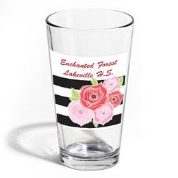 Full-color Leo Tumbler - Stripes and Flowers