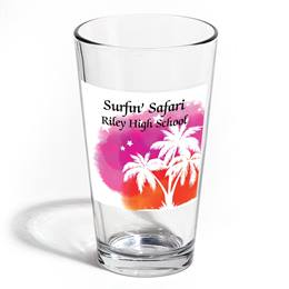 Full-color Leo Tumbler - Sunset Palm Trees
