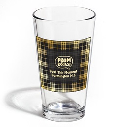 Full-color Leo Tumbler - Black and Gold Plaid